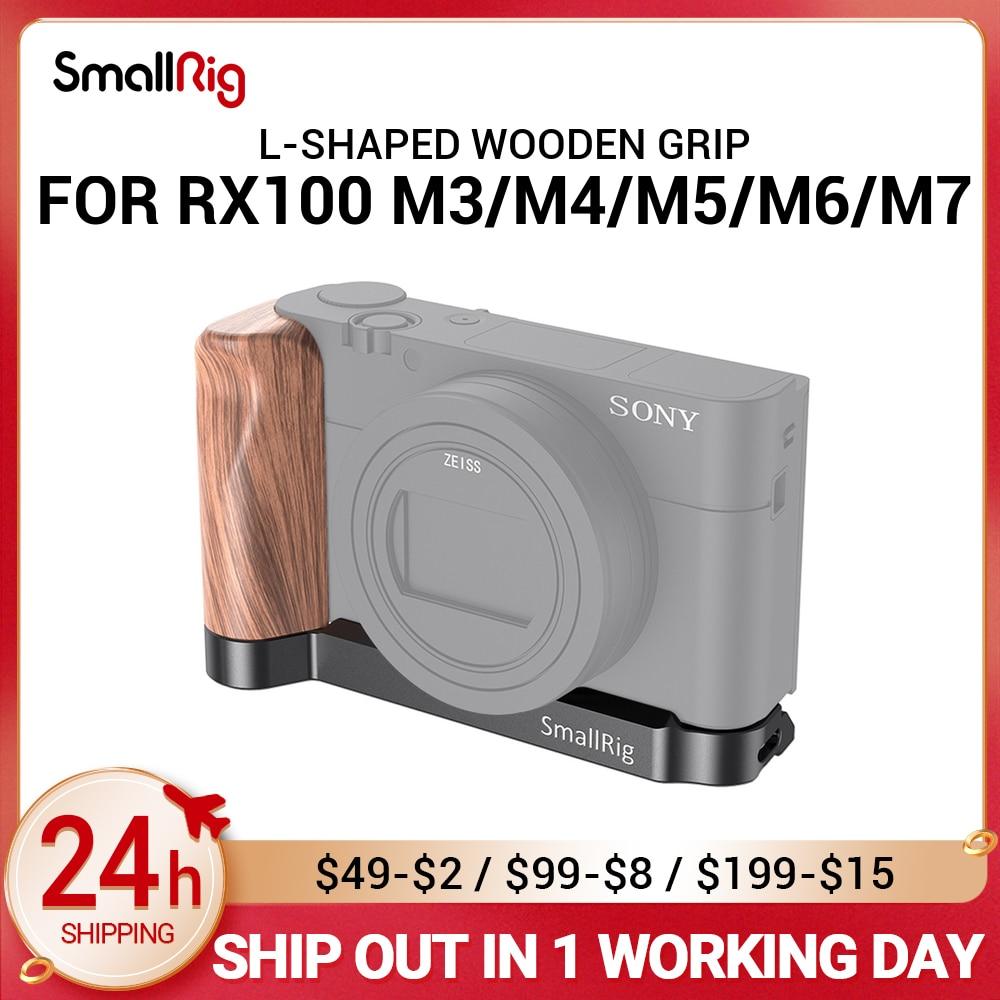 قبضة خشبية صغيرة الحجم RX100 M7 على شكل حرف L لكاميرا Sony RX100 III / IV / V(VA)/VI/السابع Rx100 M6 Vlog تلاعب لكاميرا تسجيل الدخول 2467