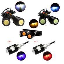 1 paire universelle moto LED Mini plaque dimmatriculation lumière clignotant aigle oeil forme clignotants lumière moto accessoires