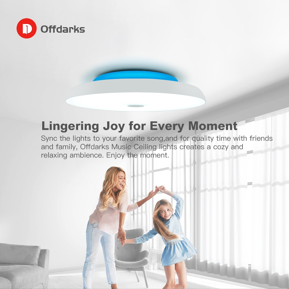 Modern LED ceiling Lights Dimmable 36W 48W 72W APP Remote control Bluetooth Music light speaker foyer bedroom Smart ceiling lamp  - buy with discount