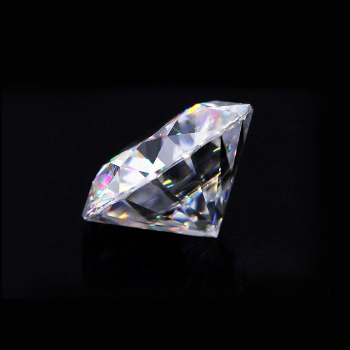 100% Real Loose Gemstones Moissanite Stone G Color 0.2ct To 5ct Lab Grown Diamond Round Shape Undefined For Jewelry Diamond Ring