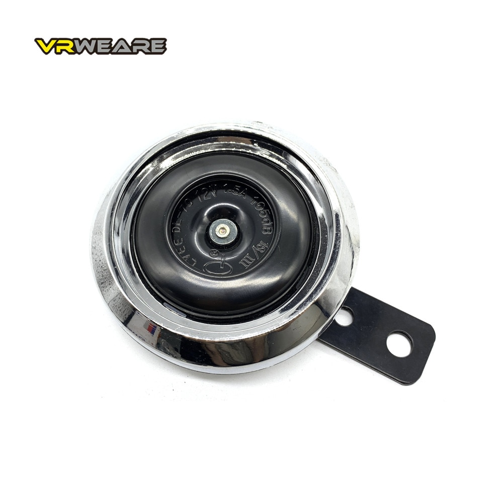 1pcs motorcycle horn moto trumpet 12v black loud 110db moped dirt bike electric vehicle scooter air horns motorbike classic horn DC 12V Motorcycle Electric Horn Chrome plated Waterproof loud horn Motorbike Vehicle Classic Horn With Cover  Universal