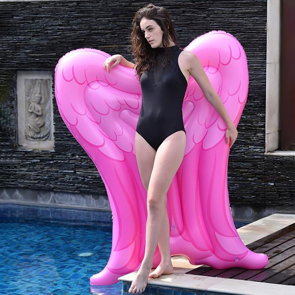 Swimming Ring Pool Float Inflatable Angel Wings Float Floating Mat Blow Up Beach Toy For Men Women Pool Party#W#