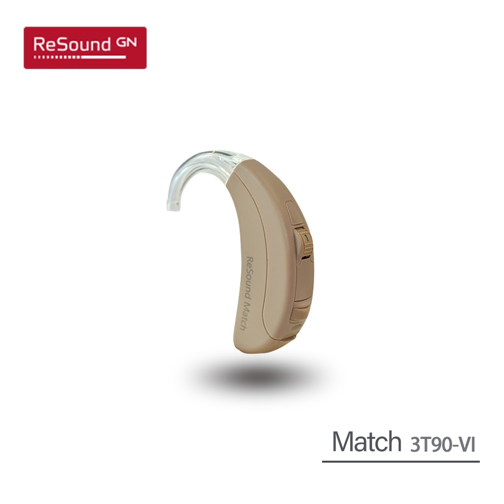 Gn Resound Match 3T90-V Digital Wireless BTE Hearing Aid Aids High Power Ear Hearing Assistance Device Amplifiers