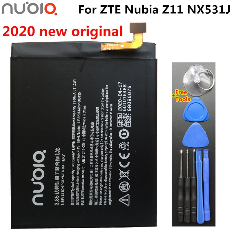 New Original Li3829T44P6h806435 3000mAh Battery For ZTE Nubia M2 Lite NX573J Nubia M2 Play NX907J Mobile Phone Battery