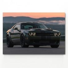 Challenger Muscle voiture Roadster véhicule voiture affiches toile peintures voiture photos mur Art pour salon décor à la maison (pas de cadre)