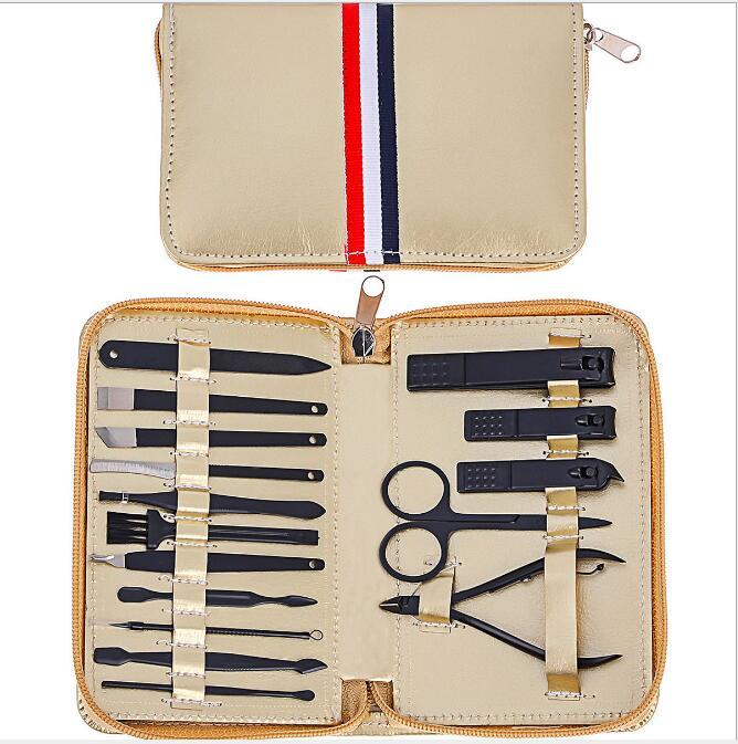 Цвет золотистый школьная крутая сумка для матовый черный кусачки ногтей набор
