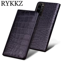 crocodile genuine leather case for huawei honor 30 pro slot holder cases for honor 30 pro plus 5g flip cover