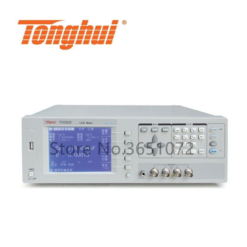 TH2826 20Hz-5MHz medidor de alta velocidad RLC medidor ESR medidor LCR digital