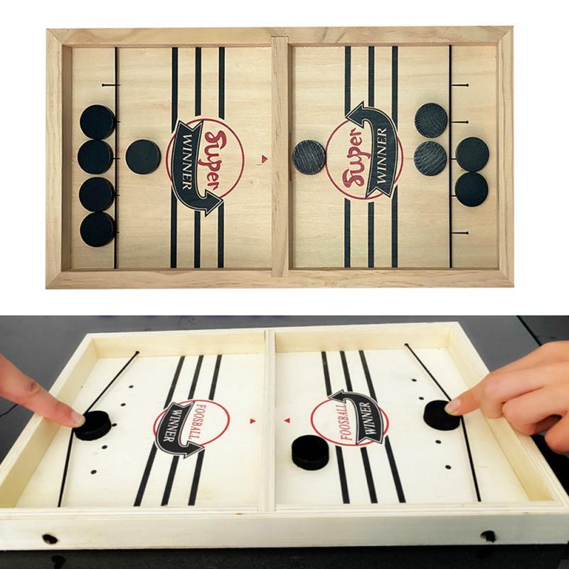 Livraison directe offre spéciale élingue rythmée palet gagnant jouets amusants pour famille enfant enfants jeu de société partie temps de jeu jouets drôles Hockey rapide