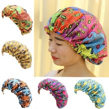 Grote Afrikaanse Print Ankara Slaap Motorkap Vrouwen Head Cover Zijdeachtige Vlek Elastische Cap Dames Head Wrap Hoed Haaraccessoires Nieuwe mode