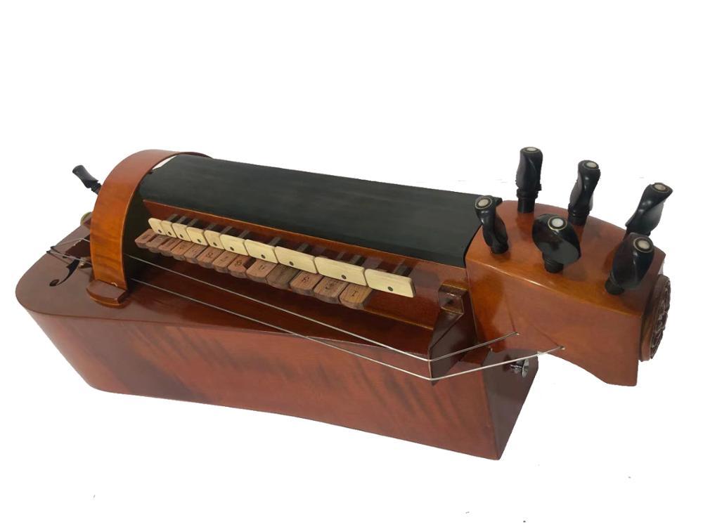 Madera de Arce hecha a mano, 6 cuerdas, 24 llaves, Hurdy Gurdy
