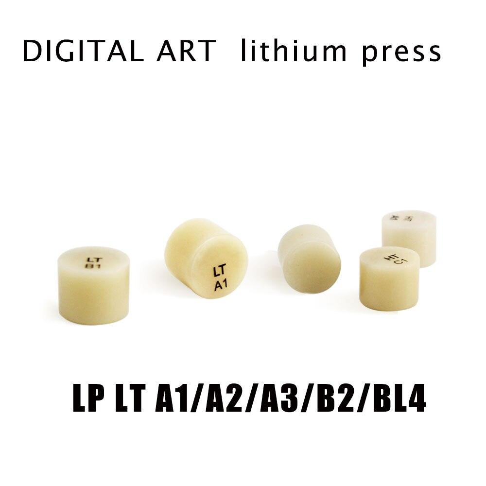 Digitalart كوب سيراميك الليثيوم كتلة IPS زجاج مضغوط السيراميك للقشرة والداخلية LP LT A1-BL4 5 قطعة