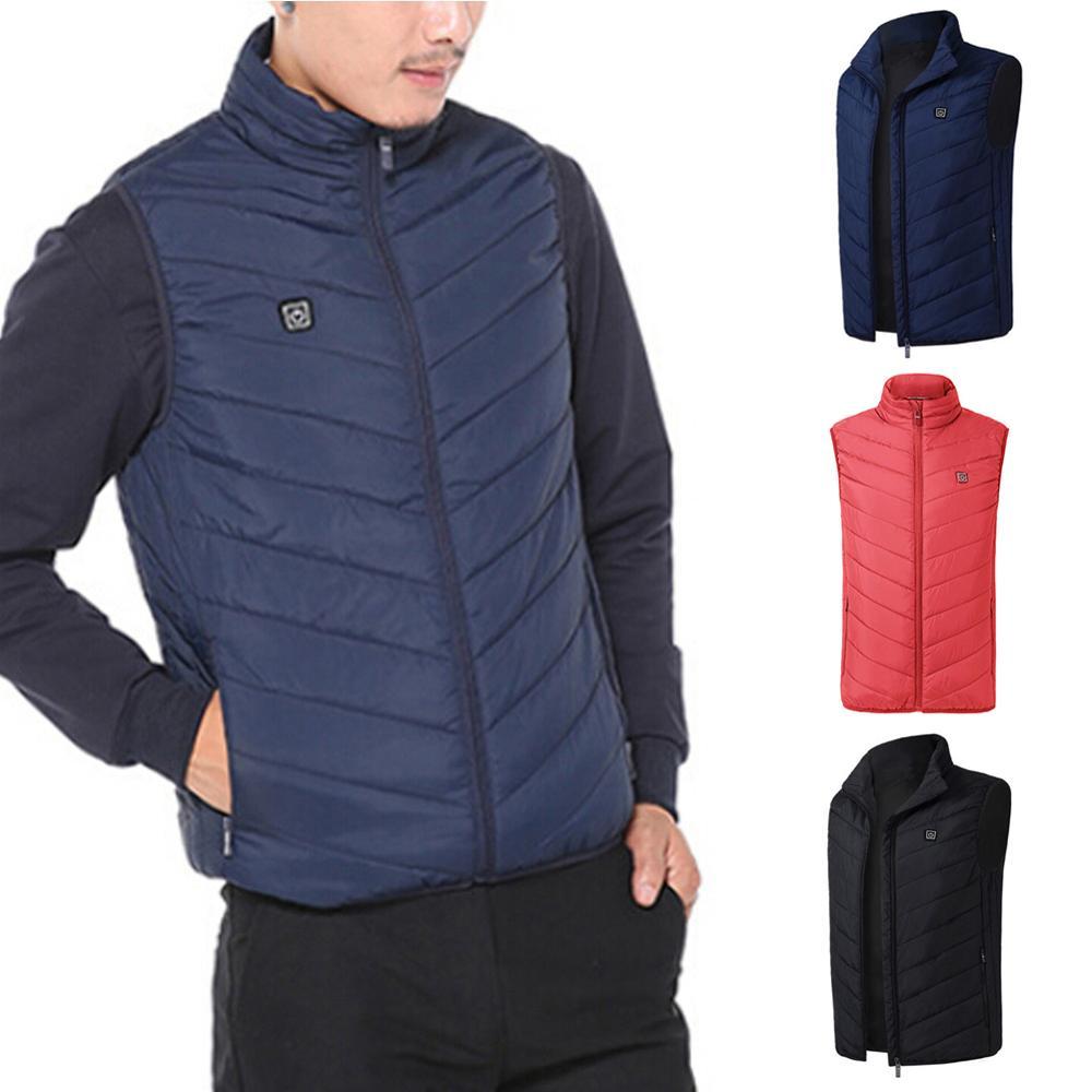 Winter Smart Heating Cotton Vest USB Infrared Electric Heating Vest Women Men Outdoor Flexible Thermal Winter Warm Jacket Hot !! enlarge