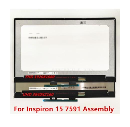 Original para DELL Inspiron 15 7591 FHD UHD ordenador portátil Instalación de reemplazo de la pantalla LCD montaje de pantalla táctil