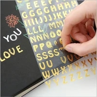 1sheetpack 6 choices english alphabet hot stamping stickers waterproof number labels