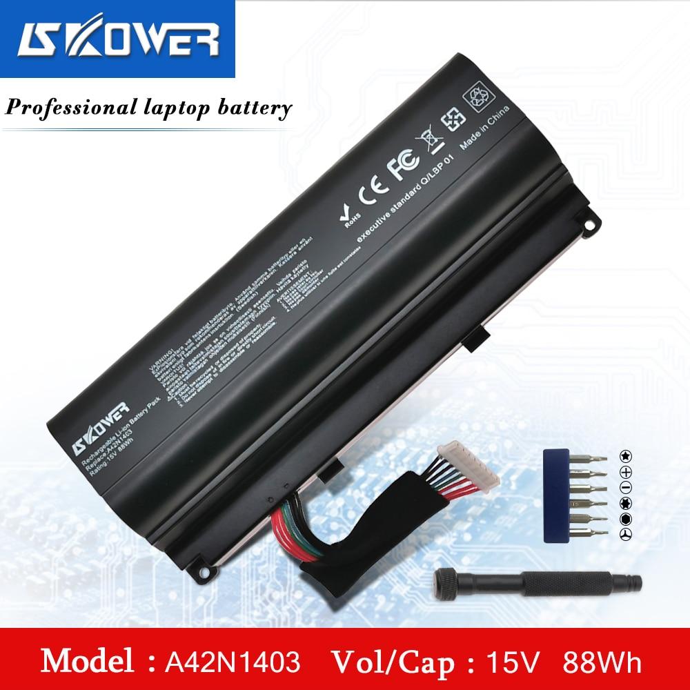 Bateria Do Portátil Para ASUS ROG SKOWER G751 G751JY G751JM G751JT GFX71JY GFX71JT A42N1403 A42LM9H A42LM93 4ICR19/66-2 14.8V/88WH