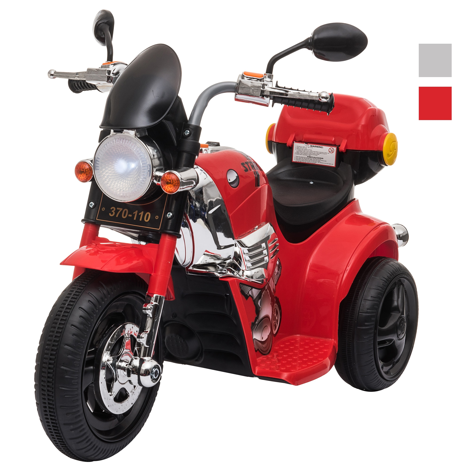 AliExpress - HOMCOM electric tricycle for children + 3 years infant with 6V battery with music button horn lights and trunk