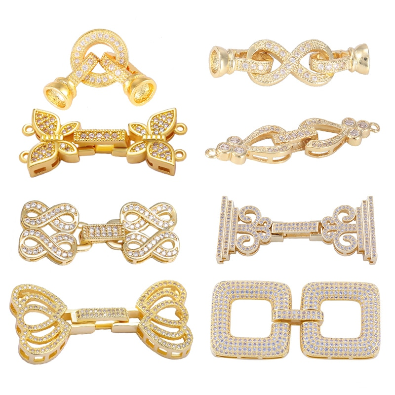 Juya DIY жемчуг ювелирные изделия фиттинги крепёж соединительные зажимы для ручной работы Бисероплетение драгоценные камни браслет из жемчужин ожерелье изготовление материала