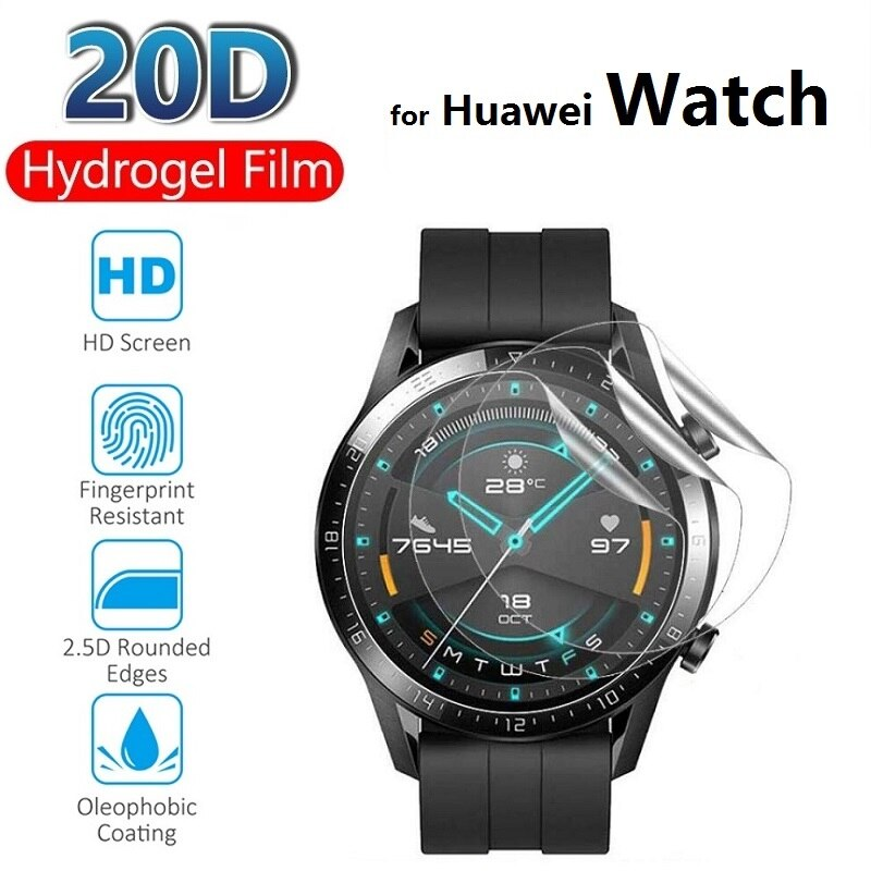 2pcs Hydrogel Protective Film for Huawei Watch GT 2e 2 Pro 46MM 42MM (Not Glass) Screen Protector Pr