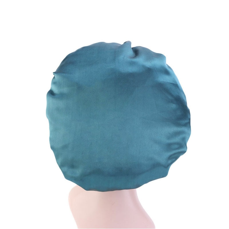 Новая однотонная женская Атласная шапочка, Модная шелковая большая шапочка для леди, головной убор, головной убор, аксессуары для волос, Опт...