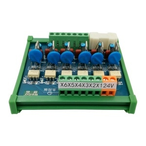 6-channel PLC AC Amplifier Board Optocoupler Isolation Positive and Negative Control PNP Contactless Solid State Relay