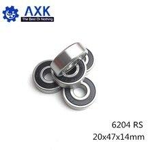 6204RS Lager ABEC-3 (2 PCS) 20x47x14mm Tiefe Nut 6204-2RS Kugellager 6204RZ 180204 RZ RS 6204 2RS EMQ Qualität