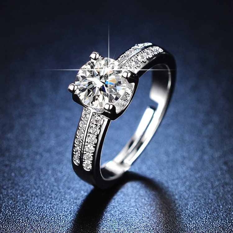925 Sterling Silver Womens Ring Sterling Silver Rings Diamond Ring Jewelry for Women Resizable Rings