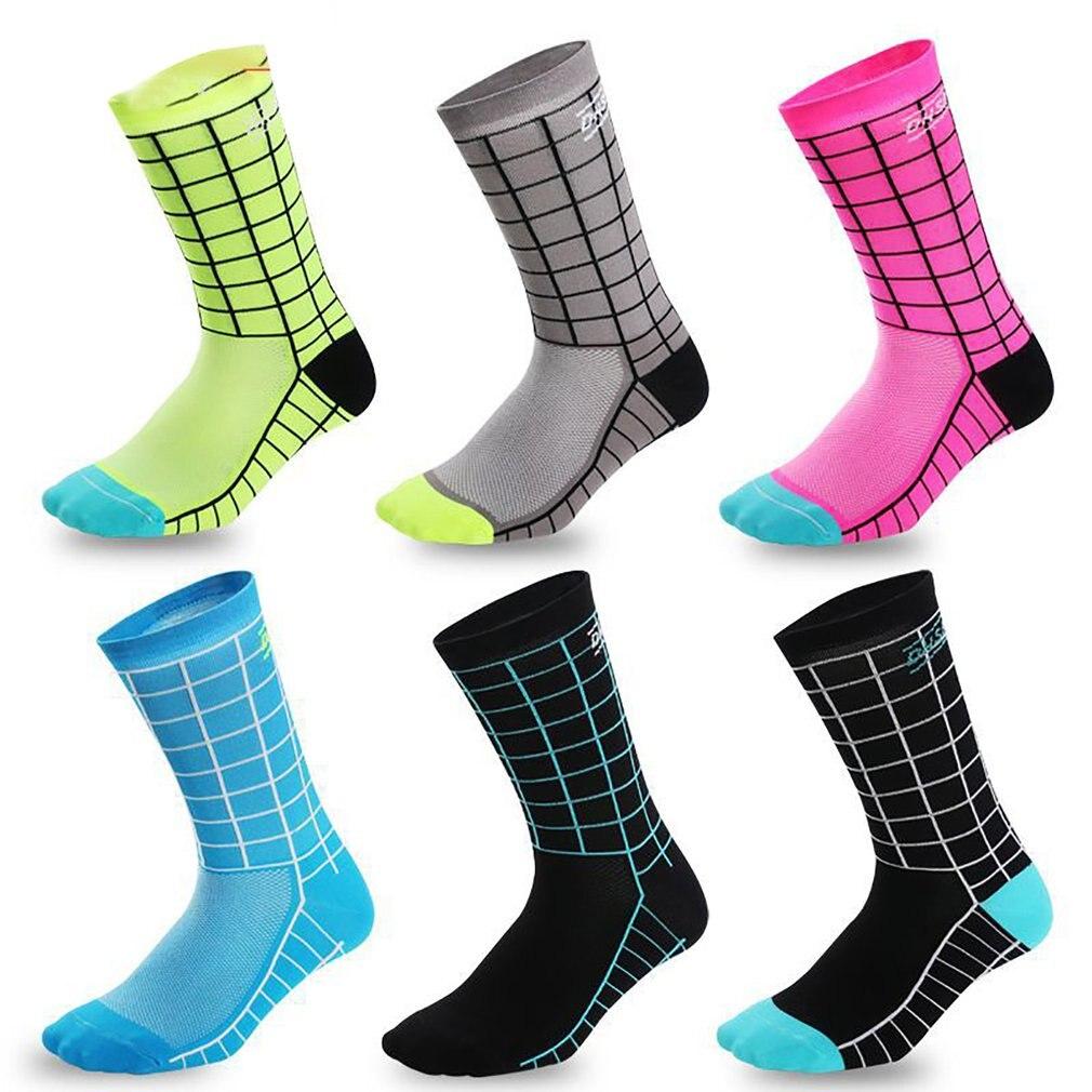 DH-011 profesional de ciclismo calcetines absorbente de humedad, transpirable deportes bici Running calcetines de senderismo gimnasio entrenamiento Calcetines
