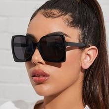 Oversize Designer Sunglasses Women 2021 Square Sun Galsses Fashion Glasses Shades For Men Vintage Ey