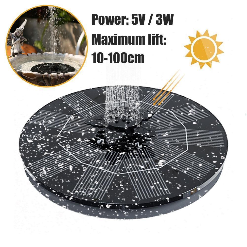 new listing 5V/3W Solar Fountain Petal Solar Powered Fountain Multifunctional Solar Floating Water Fountain