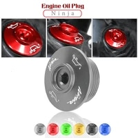 motorcycle cnc engine plug cover caps screws filter oil bolt sump nut for kawasaki ninja h2 h2r sx 2018 2019