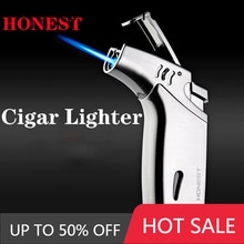 Lighter filled with butane gas, windproof welding torch, outdoor barbecue, high temperature direct c