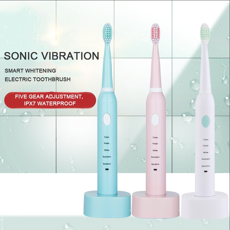 Whitening tooth brush with memory function, USB rechargeable