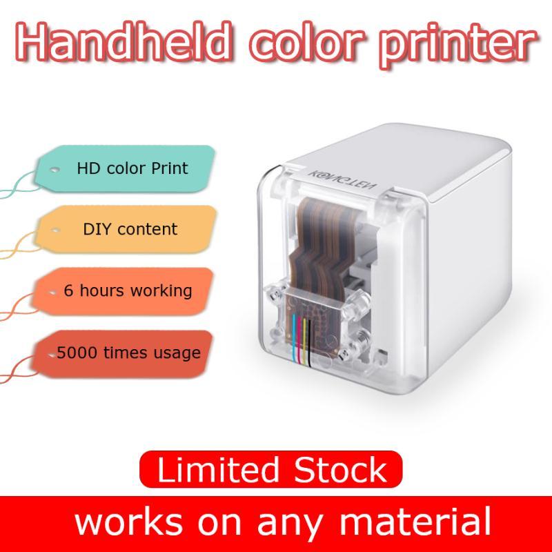 Портативный мобильный принтер безбумажный многоповерхностный тату фото логотип шаблон штрих-код mbrush портативный мини цветной принтер