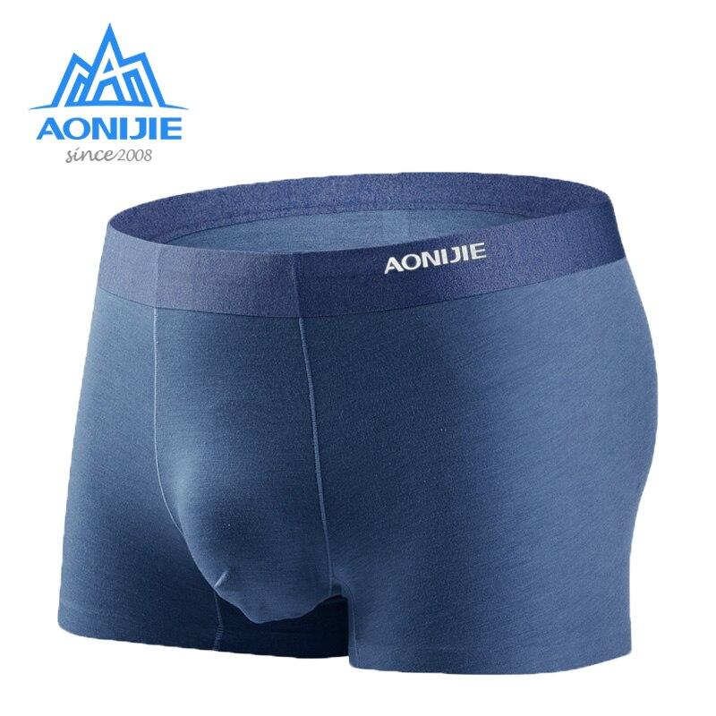 Aonijie 3 unids/set ropa interior deportiva de secado rápido calzoncillos cómodos transpirables hombres Boxer Shorts para Camping al aire libre senderismo E7004
