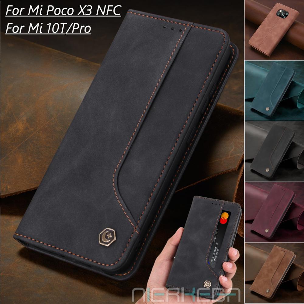 Flip Leather Case For Xiaomi Mi 10T Pro Lite 10TPro M X 3 Magnetic Wallet for Xiomi Poco M3 X3 NFC C