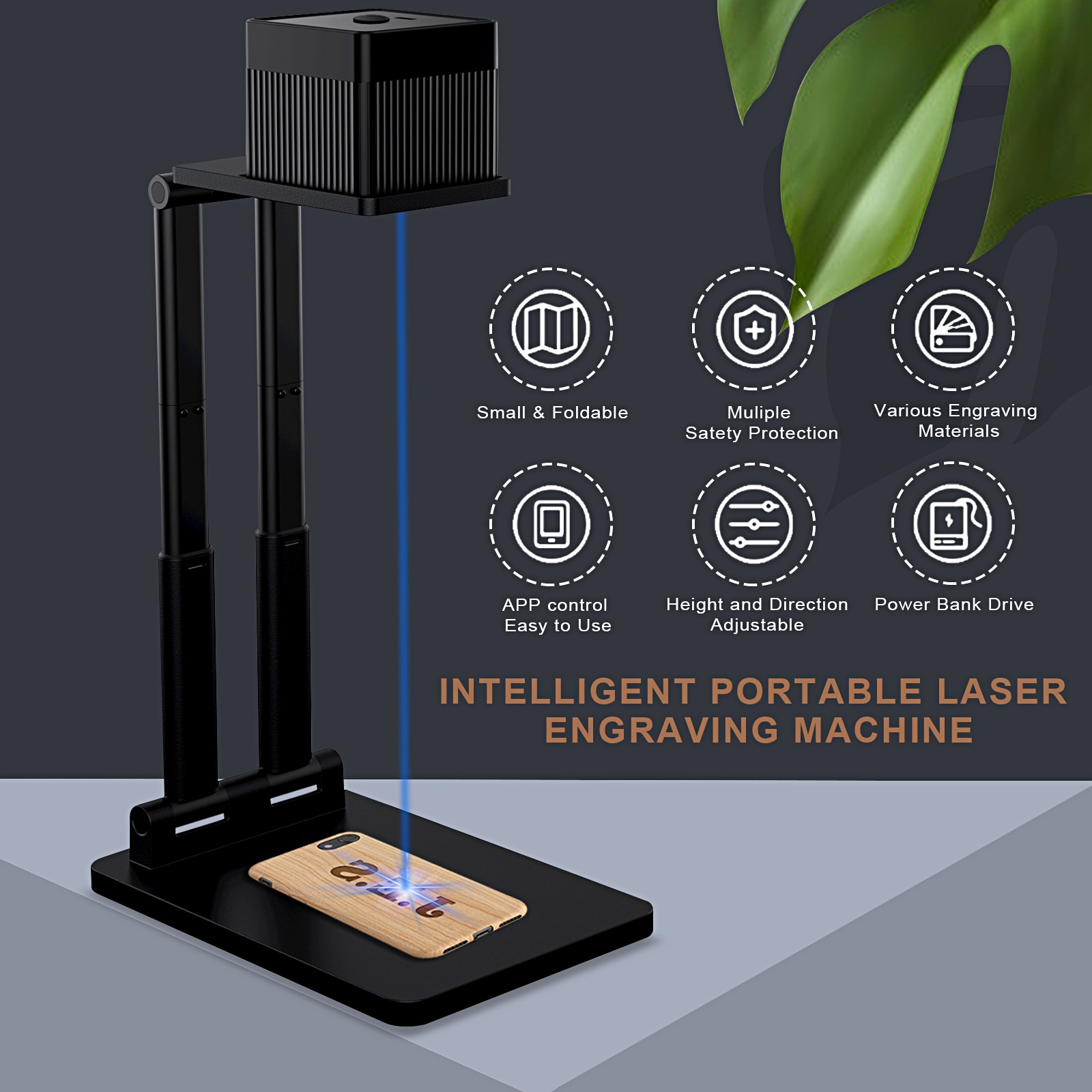 NEW LC100 Laser Engraver 3D Printer Engraving Machine Desktop Etcher Cutter Engraver with Bracket Portable With Bluetooth enlarge