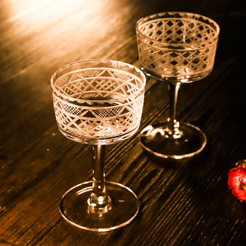 Martini glas böhmen handgemachte kristall geschnitzte cocktail Saft Tasse Süße wein glas breiten mund margarita wein glas bar drink