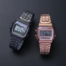 LED Metal Shock Sports Men Watches Women Electronic Digital Display Retro Style Clock Men's Relogio