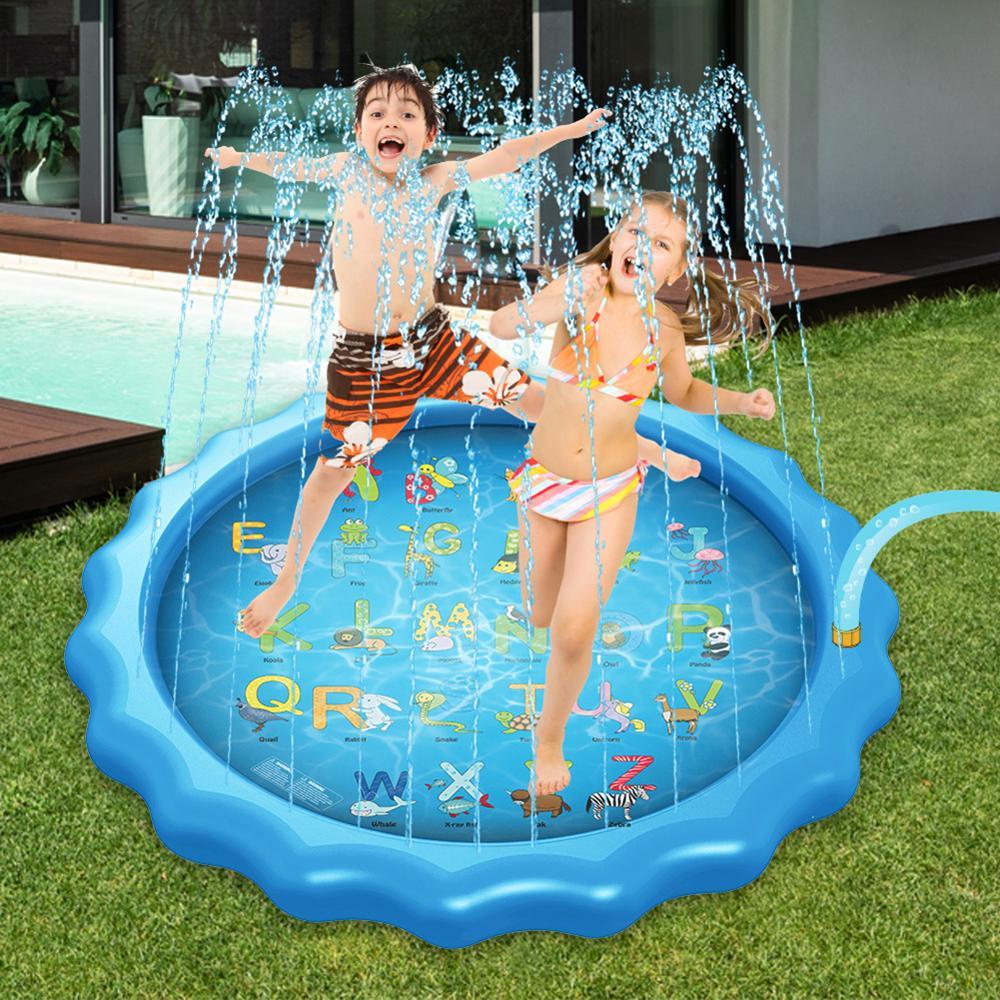 الأطفال المائية الأبجدية رذاذ وسادة الأطفال تلعب حصيرة 170 سنتيمتر رذاذ بركة في الهواء الطلق الحديقة اللعب اللعب الشاطئ اللعب رذاذ الماء لعبة