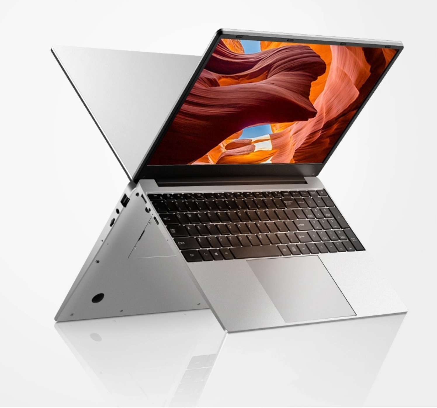 14.1 inch win10 laptop Celeron N3150 Quad Core notebook computer with 4G RAM+500GB HDD Aluminium alloy case