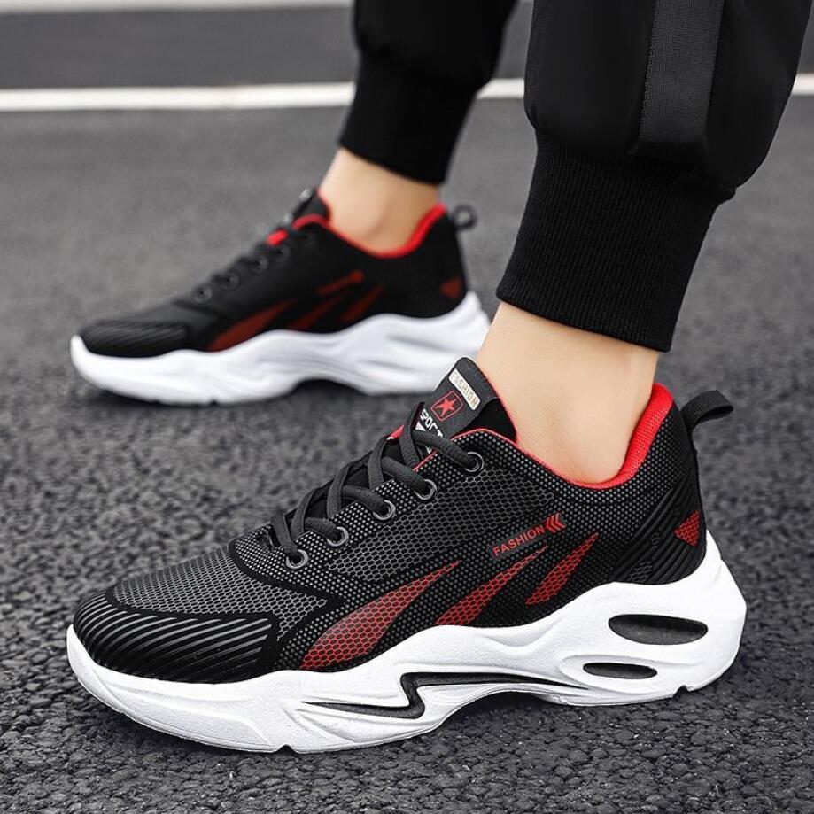 Zapatillas deportivas de estilo clásico para hombre, zapatos de malla con cordones,...