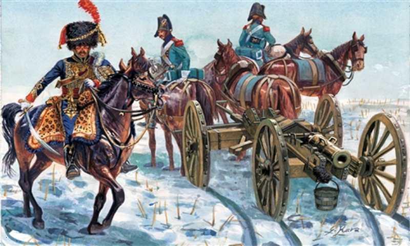 132 proporción, modelo de fundición a presión de resina, Ejército Francés, artillería de Caballería (guerra Napoleón), juguete, envío gratis