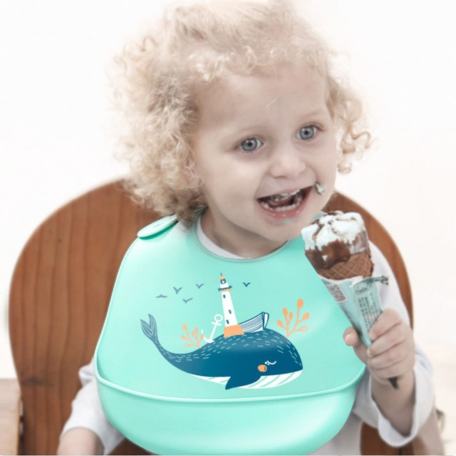Waterproof Baby Bibs Adjustable Silicone Toddler Infant Burp Cloths Kids Feeding Aprons Children Eating Lunch Breastplate Stuff 2