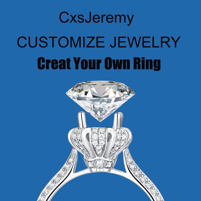 Женское Обручальное Кольцо CxsJeremy Platinum PT950 с овальным вырезом 6*8 мм 1.5ct, Подарок на годовщину