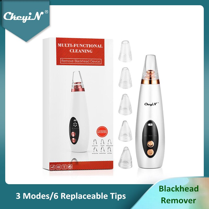 AliExpress - CkeyiN Microdermabrasion Vacuum Suction Blackhead Remover Facial Pore Cleaner Face Acne Comedone Extractor Pimple Removal Tool