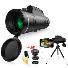 40X Zoom téléobjectif HD monoculaire télescope téléphone caméra objectif pour iPhone Xs XR Samsung + Fisheye grand Angle Macro 3In1 objectif