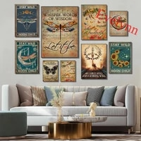 dragonfly poster music poster hippie posterbees deer poster dark butterfly posterhome decor canvas wall art prints gift
