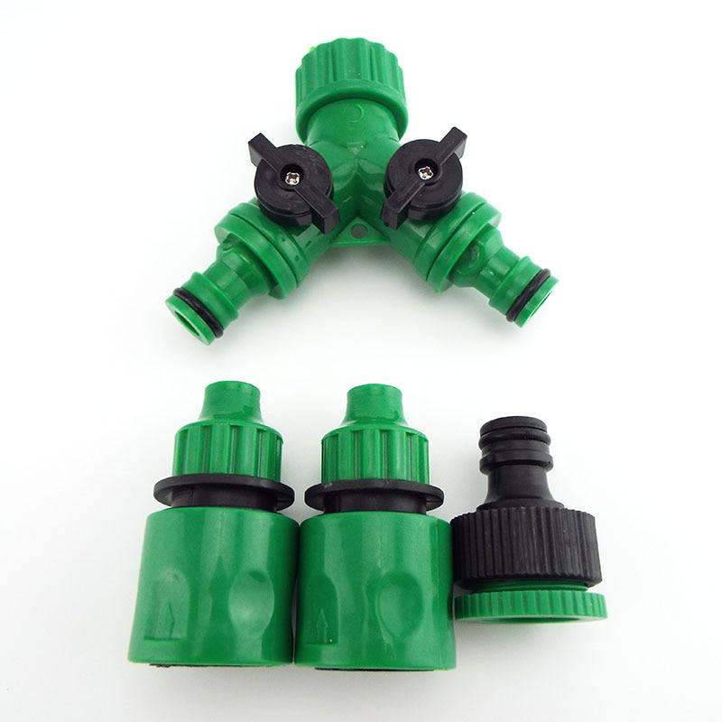 1 Uds 4/7mm 8/11mm Manguera con púas 4/7 conectores rápidos jardín agua grifo riego por goteo herramientas de acoplamiento rápido