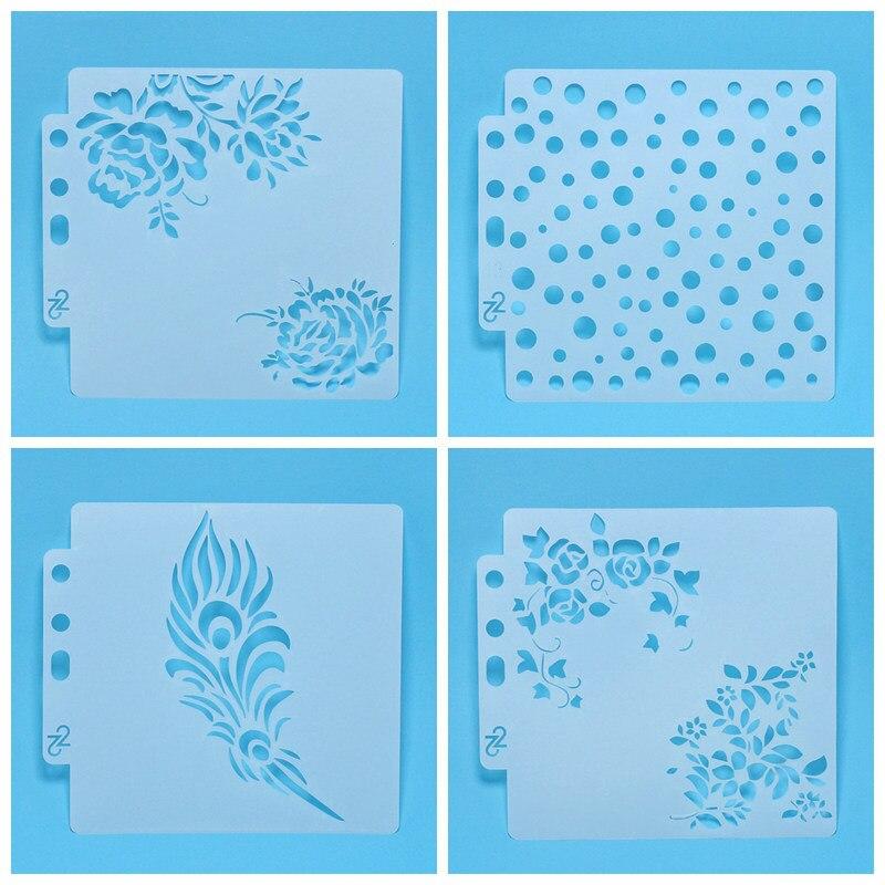 Plantillas de punto con cola de Phoenixtail para bricolaje, libro de recortes decorativo, tarjetas de papel de grabado, artesanías, decoración de tejido de costura para pastel